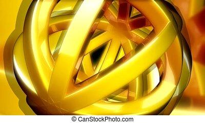 Gold open weave ball
