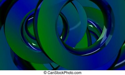 Green and blue circles