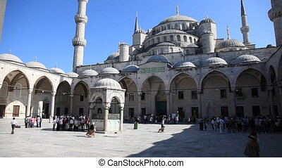 blue mosque scene 4 - Blue Mosque Scene with People, shoot...
