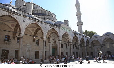 blue mosque scene 3 - Blue Mosque Scene with People, shoot...