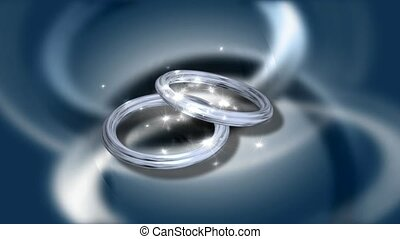 Sparkling wedding rings