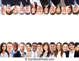 Group of business people - Group of business people isolated...