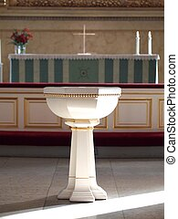 Baptismal Font in the Helsinki Cathedral