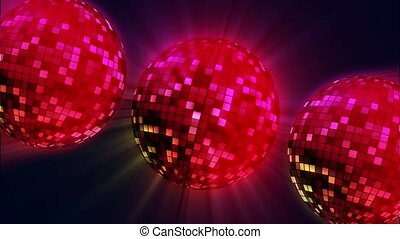 Red disco balls