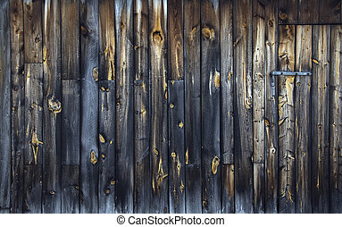 Rusty wood II - Vintage wall with rust in a rural scene