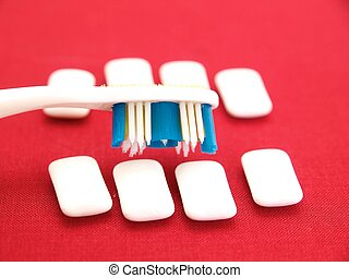 Toothbrush and Chewing Gum
