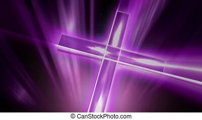 Purple gleaming cross