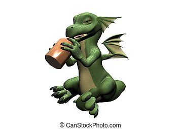 Baby Dragon with Bottle