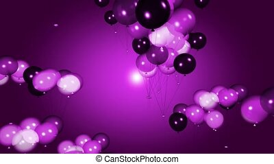 Shades of purple balloons