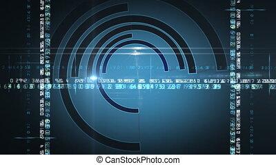 Spinning half circles
