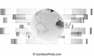 Black and white globe