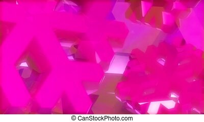 Pink snowflake shapes