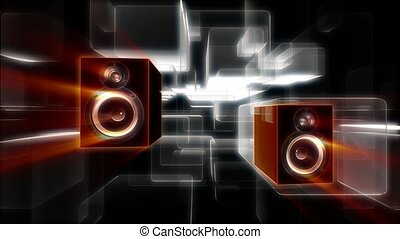 Rectangular audio speakers