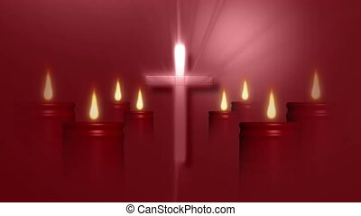 Cross and candles