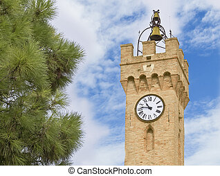 Church Clock In Italy (Loreto)