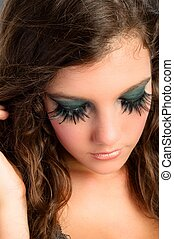 Attractive young model with pretty makeup