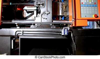molding press machine prepare hot polyethylene - squeeze...