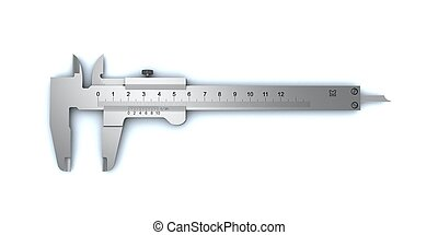 vernier caliper - Calliper on a white background.