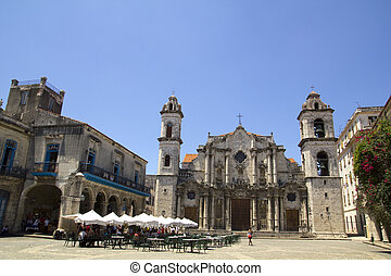 The Havana Cathedral in Cuba - The Havana's Cathedral and...
