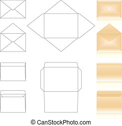 envelopes templates - templates and schemes of envelopes...