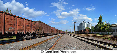 rail ways - a panoramic view of rail facilities near port...