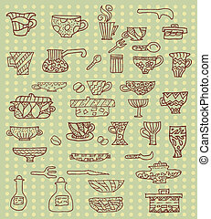 kitchen utensils background
