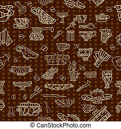 kitchen utensils background seamless