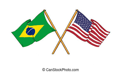 American and brazilian alliance and friendship -...