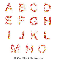 A-O letters and symbols, candies