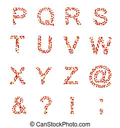 P-Z letters and symbols, candies