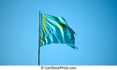Kazakhstan flag. - National flag of Kazakhstan Republic