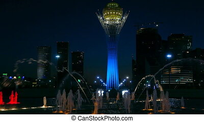 Light colour fountain - Light fountain in the Astana,...