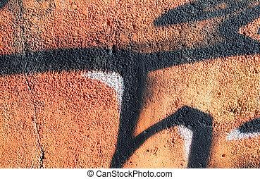 Graffiti wall - Colorful grunge graffiti wall close up photo