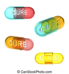 Four types of cure pills