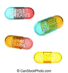 Four types of sweet dreams pills