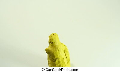 yellow character - Clay Cartoon animation, gag character...