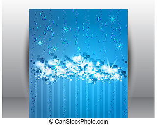 Abstract Stars  Snow Background
