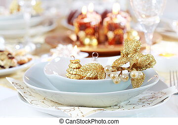 Luxury place setting for Christmas - Place setting for...