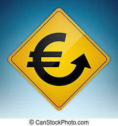 Road Sign Euro Up