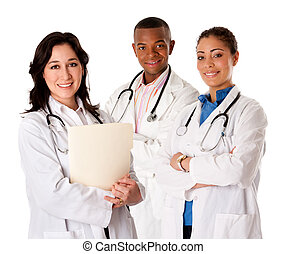 Happy smiling doctor physician team - Happy smiling doctor...