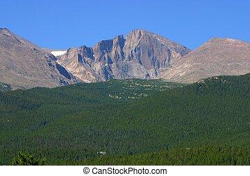 Longs Peak - A view of Longs Peak in Rocky Mountain National...