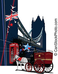 Cover for brochure with London ima