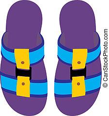 Slippers. Summer slippers