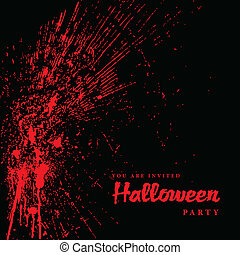 Vector Blood Spatter Halloween Background Easy to edit...