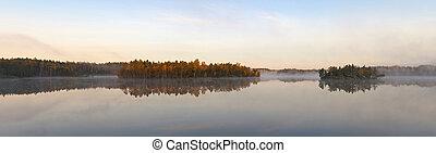 morning on lake