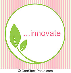 Innovate Logo - Fresh innovative logo with green circle and...