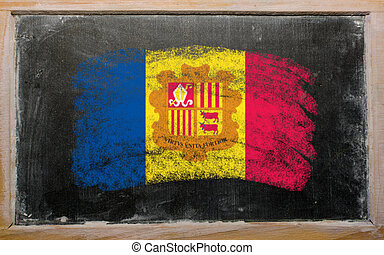 flag of Andora on blackboard painted with chalk - Chalky...