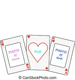 Set playcards as photoframe for a family