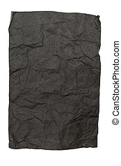Blach Crumpled Paper Texture