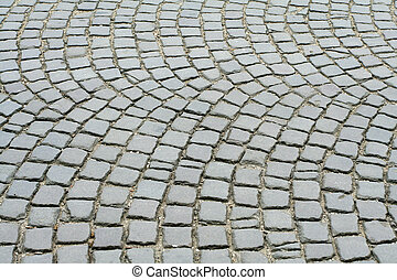 old pavement stones - the old pavement stones in neutral...